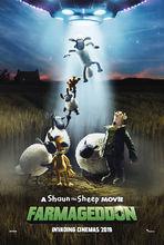 Movie poster Baranek Shaun film. Farmageddon